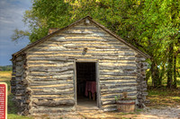 A replica of the original cabin built by Charles Ingalls.